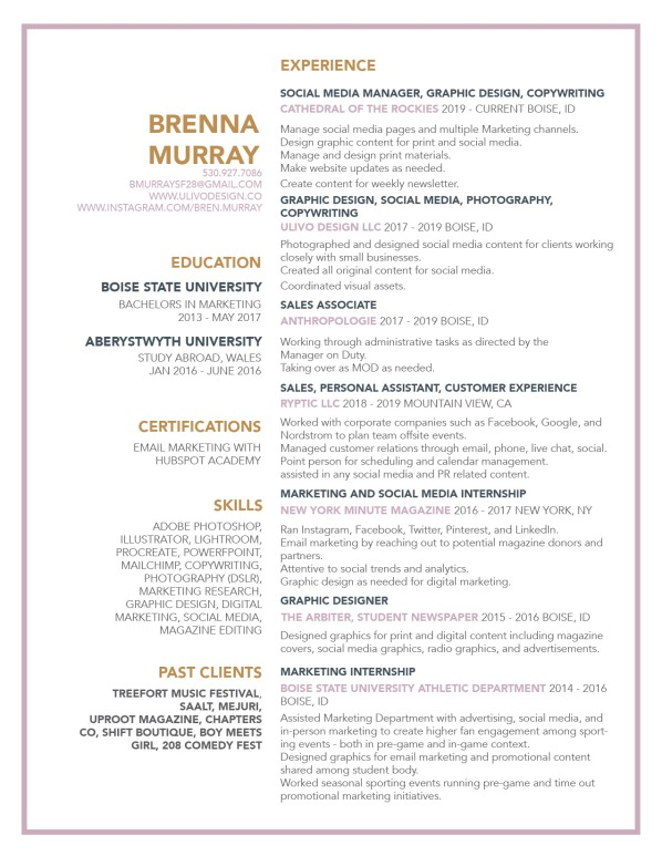 Brenna Resume